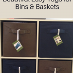 Beautiful Easy Tags for Bins & Baskets