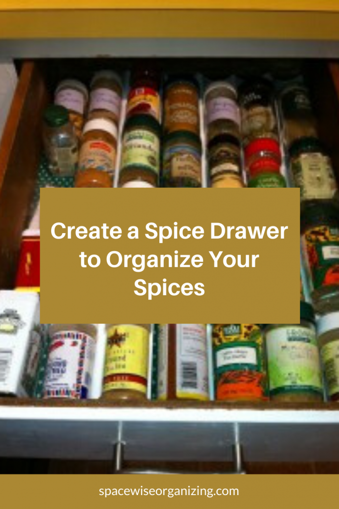 Create a Spice Drawer to Organize Your Spices