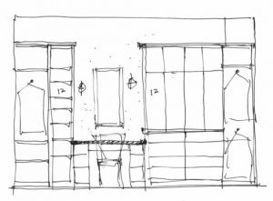 Remodel plan for a woman's closet