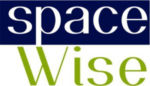 spaceWise text in square logo