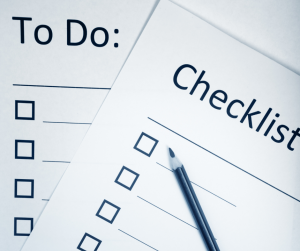 Checklist and To Do List to help you prioritize